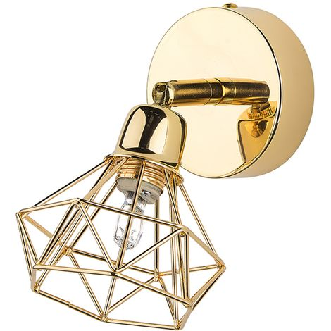 Metal Wall Lamp Rose Gold ERMA