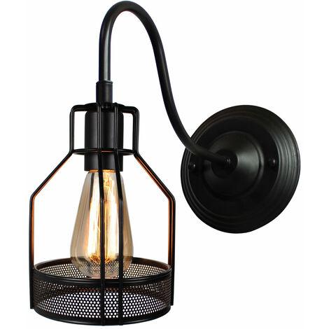 Metal Wall Sconce Retro Wall Light Black Industrial Wall Light Creative Simplicity Wall Lamp