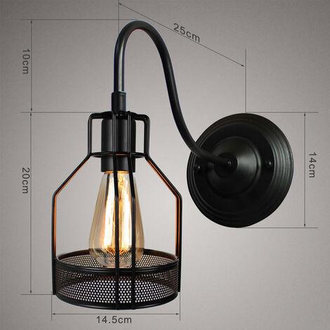 Metal Wall Sconce Retro Wall Light Industrial Wall Light Black Creative Simplicity Wall Lamp