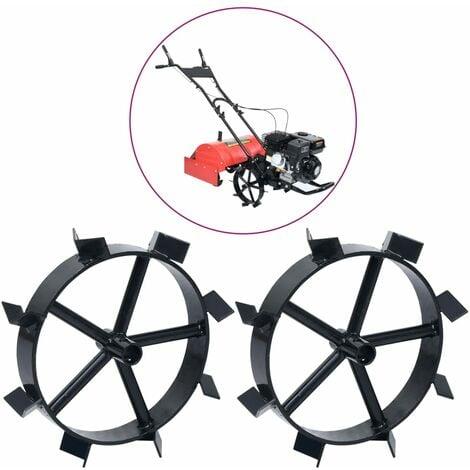 """main image of """"Metal Wheels for 6.5 HP Petrol Tiller 2 pcs - Black"""""""