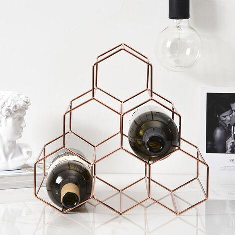 Metal Wine Rack 6 Bottles Stand Holder Cabinet Kitchen Bar Storage Display Shelf