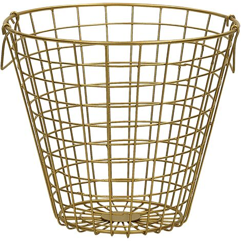 Metal Wire Basket Gold NITMA