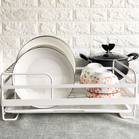 """main image of """"Metal Wire Dish Plates Cup Cutlery Crockery Glass Drainer Rack Drip Tray Fast"""""""