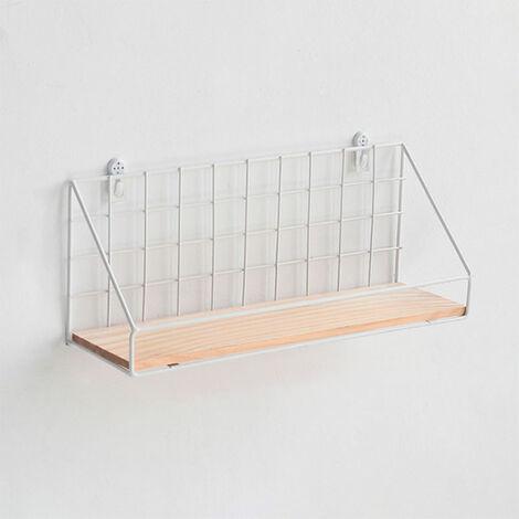 Metal Wire Rack Wall Mounted Shelf Unit Storage Basket