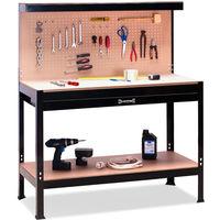 Metal Work Bench Drawer Pegboard Boltless Worktable for Garage Workshop