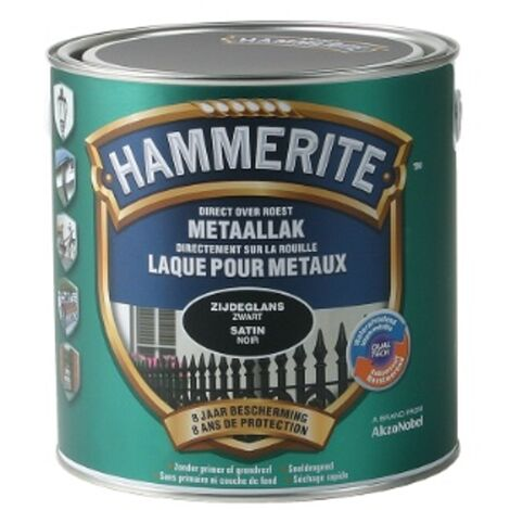 metales Negro laca Hammerite satinado - 2.5L - Noir