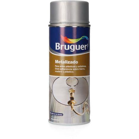Metalizado spray plata 0,4l bruguer