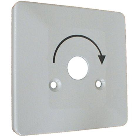 Metall-Abdeckung mit 2 Schrauben zum Schlüsselschalter US-AP und US-UP