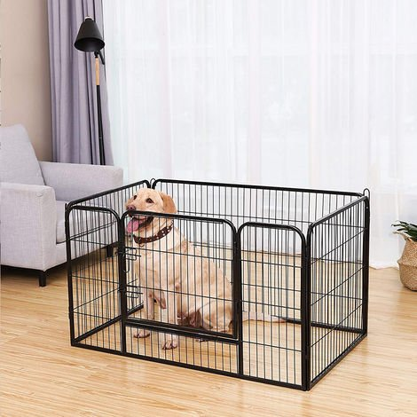 Metall Hundekäfig Hundebox Transportbox Drahtkäfig faltbar 125x80x70cm