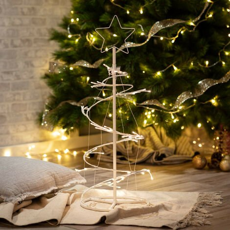 Metall-LED-Weihnachtsbaum Warmes Weiß 2800K - 3200K