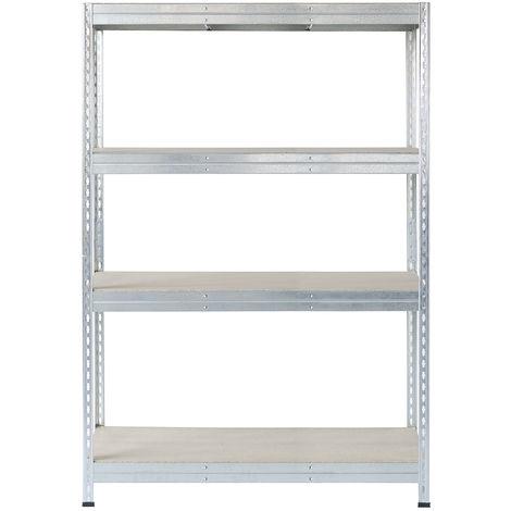 Metall-Schwerlast-Steckregal verzinkt 180X150X45cm, 4 Böden, 250kg