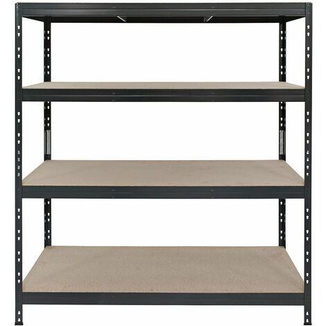 """Metall- Steckregal Serie """"Garage 45"""" in anthrazitgrau, 180x150x45cm, 4 Fachböden mit HDF, 300kg"""