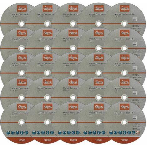 Metall Trennscheibe 25-er Set 230mm Flexscheibe Winkelschleifer Trennschleifer