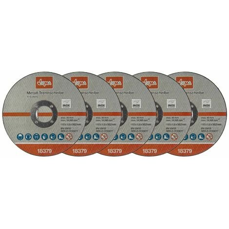 Metall Trennscheibe 5-er Set 115mm Flexscheibe Winkelschleifer Trennschleifer