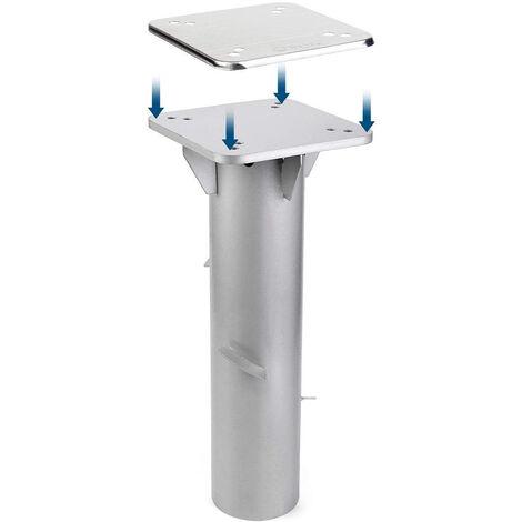 Metall Universal-Bodenplatte/Sonnenschirmständer für Sonnenschirm/Ampelschirm/Kurbelschirm, Silber