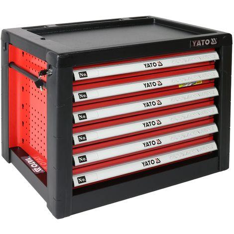Metall Werkzeugkasten mit 6 Schubladen Werkzeug Box Schubladenschrank Schubladencontainer (LxBxH) 690 x 465 x 535 mm