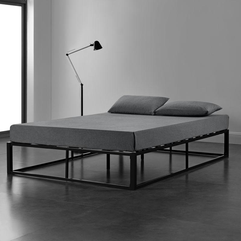 [en.casa] - Metallbett 140x200cm Schwarz Bettgestell Design Bett Schlafzimmer Metall