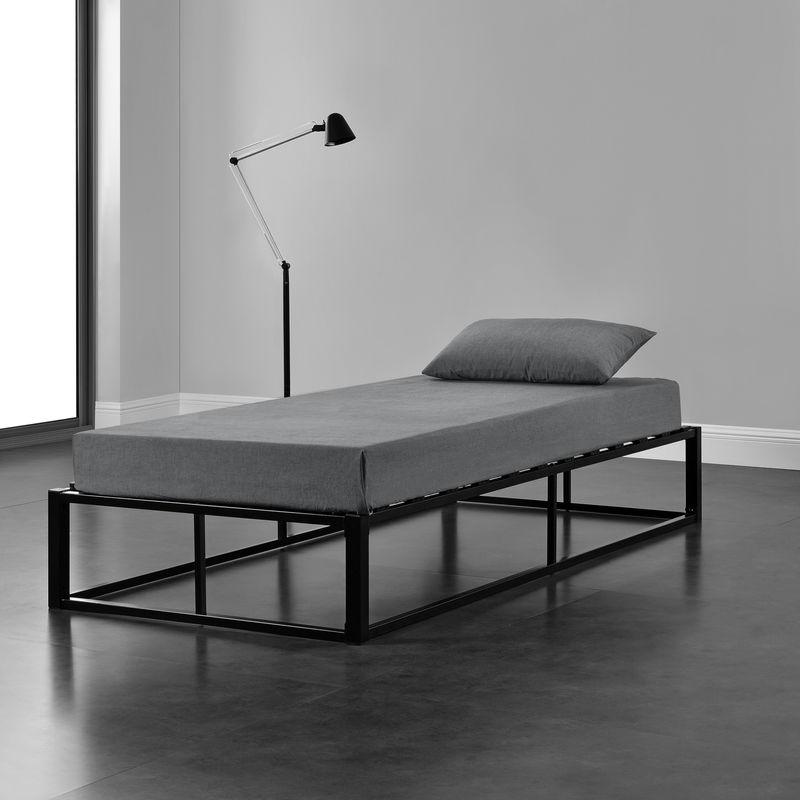 [en.casa] - Metallbett 90x200cm Schwarz Bettgestell Design Bett Schlafzimmer Metall