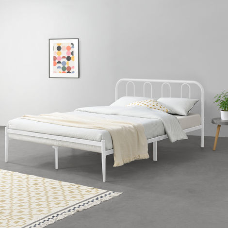 Metallbett Hank 160x200 cm Weiß