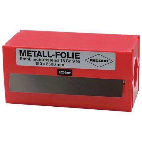 Metallfolie D.0,100mm VA 1.4301 L.2500mm B.150mm