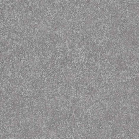 Metallic Grey Industrial Wallpaper Plaster Effect Hints Of Glitter Textured Finish