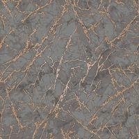 Metallic Marble Wallpaper Granite Luxury Charcoal Shiny Copper Fine Decor