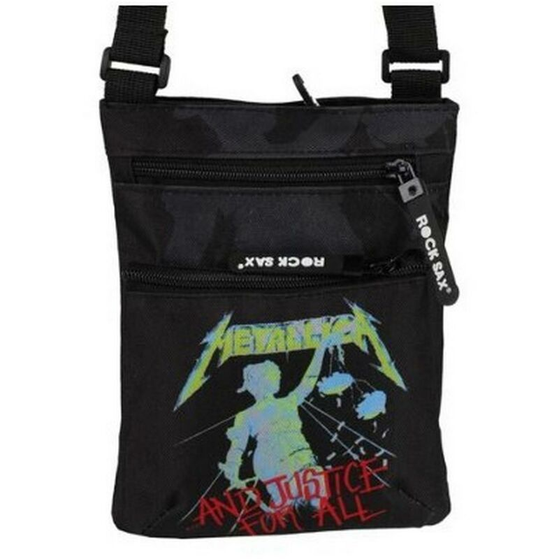 Image of Metallica and Justice for All Shoulder Bag Black - LASGO