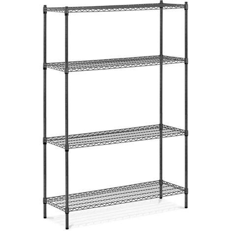Metallregal 1000 kg Standregal 120 x 45 x 180 cm Steckregal grau Lagerregal