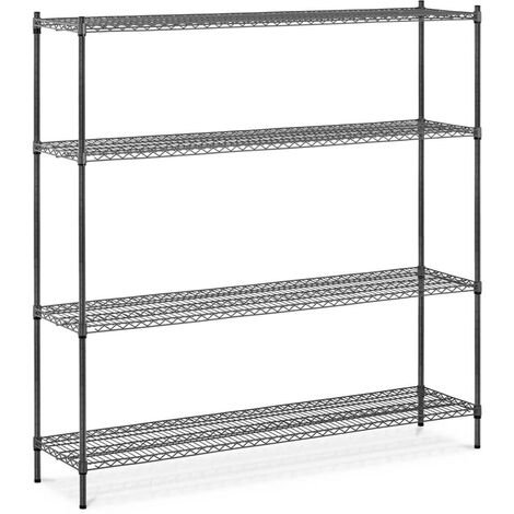 Metallregal 1000 kg Standregal 180 x 45 x 180 cm Steckregal grau Lagerregal