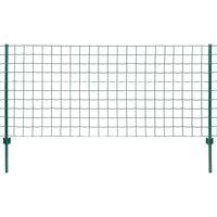 Metallzaun-Set 20 x 1 m Stahl Grün