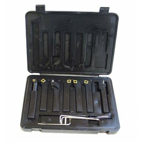 """main image of """"Métalprofi - Coffret 7 outils de tournage métal 12 x 12 mm à plaquettes - HS-DM12"""""""