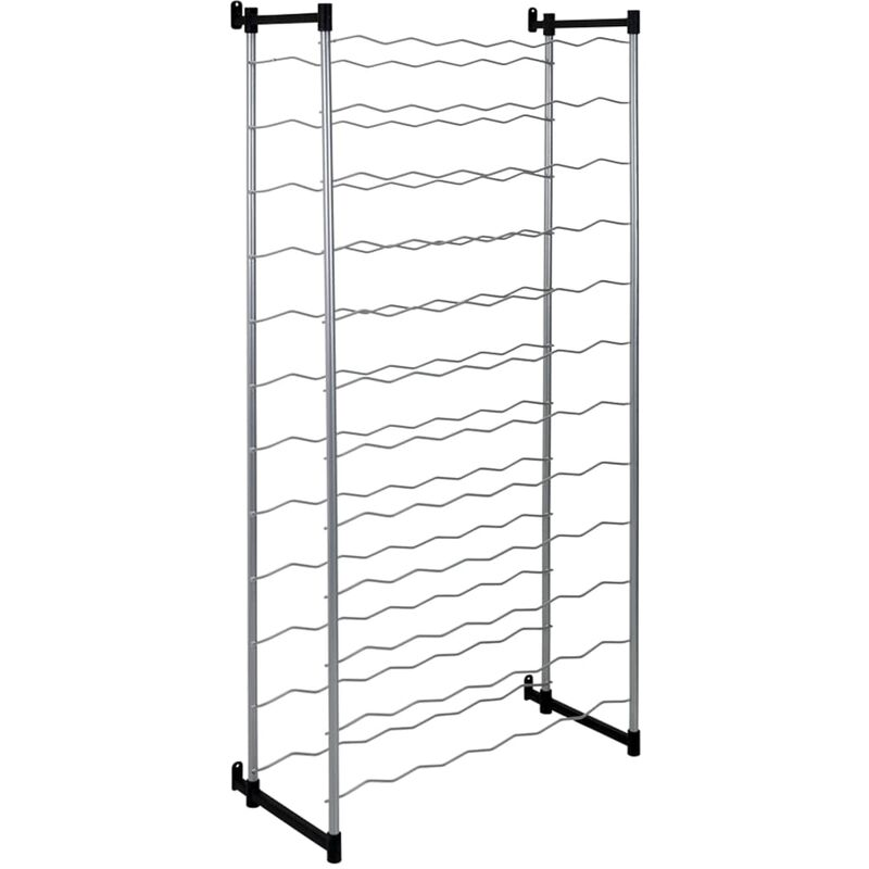 Image of Bottle Rack Bardolino for 72 Bottles - Silver - Metaltex