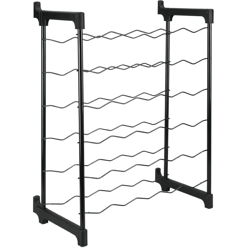 Image of Bottle Rack Chianti for 30 Bottles - Black - Metaltex