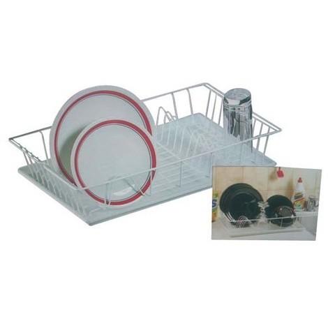 METALTEX - Egouttoir à vaisselle en fils plastifiés + plateau Germatex