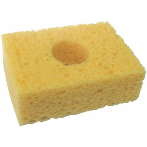 "Metcal AC-Y10 Square Sponge 3.2 x 2.1"" Yellow For WS1 Workstand Pack Of 10"