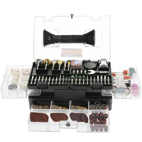 """Meterk, Brocas de ajuste de amoladora electrica, vastago de 1/8 """", 349 piezas"""