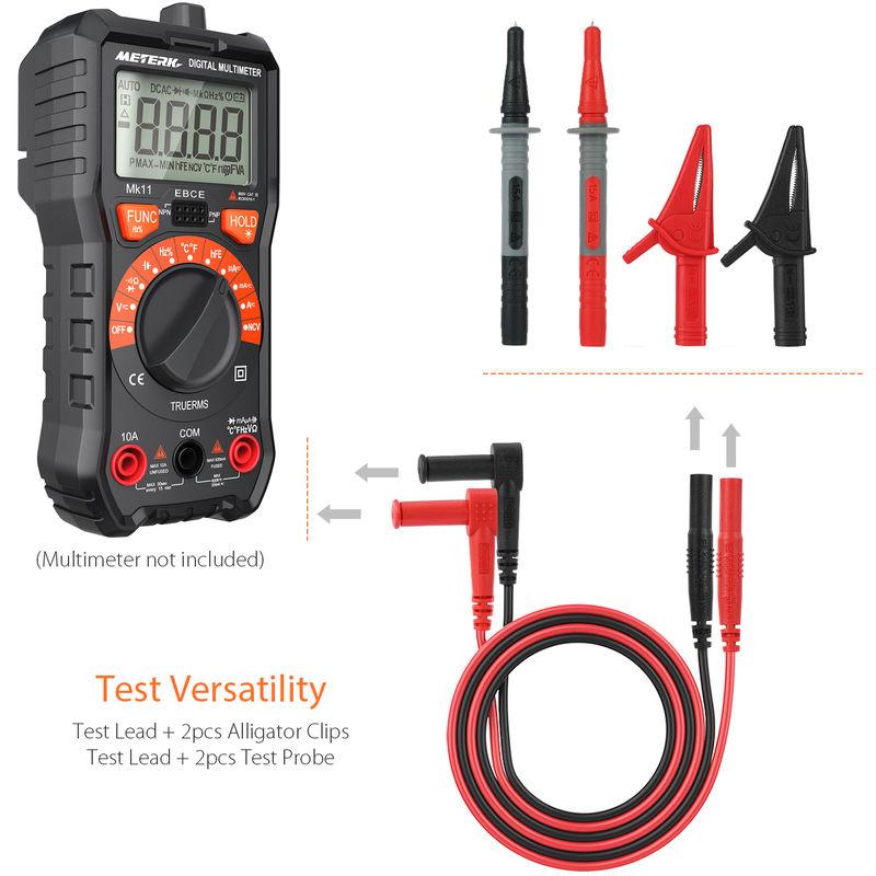 2Pcs 4mm Sonde /électronique Clip de Accessoire Multim/ètre de Test pour Garage