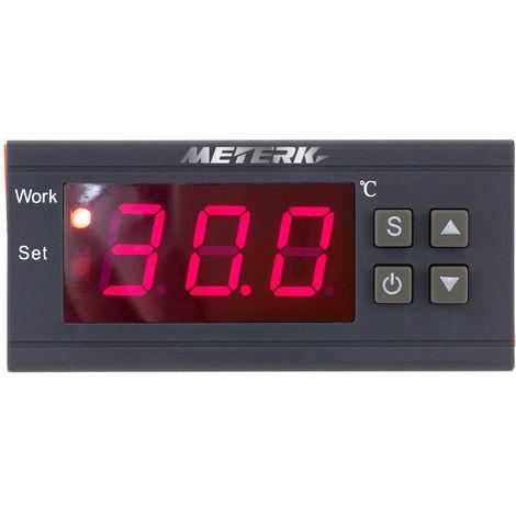 Meterk, termopar controlador de temperatura digital 90~250V 10A, -50~110 grados Celsius
