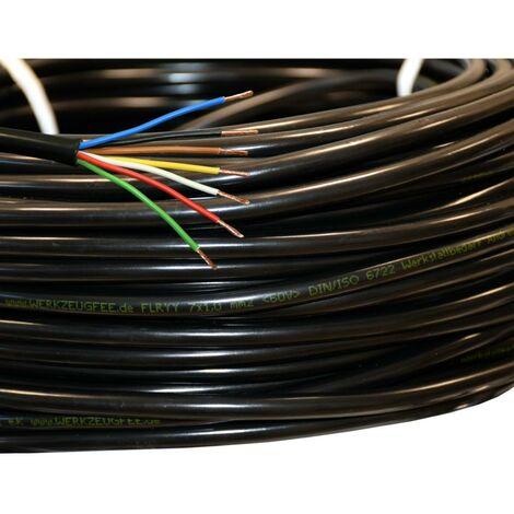 METERWARE: 1m Fahrzeugleitung 7-adrig 7x1,0 mm² FLRYY bis 60V PVC Kabel DIN ISO 6722