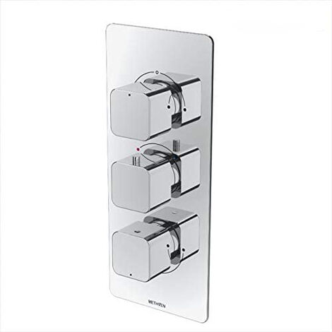 Methven Kiri 3 Outlet Concealed Thermostatic Shower Mixer Valve (ABS Plate)