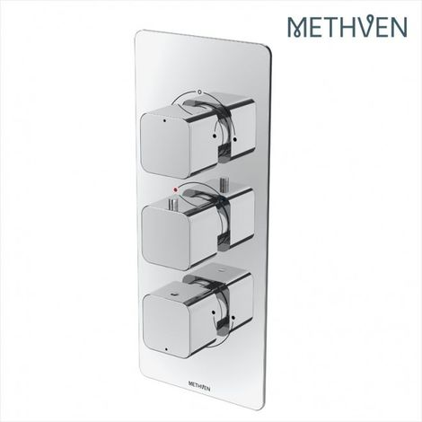 Methven Kiri 3 Outlet Concealed Thermostatic Shower Mixer Valve (Metal Plate)