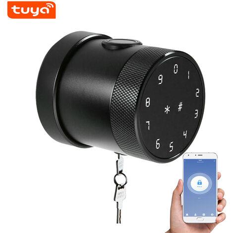 Metodo di sblocco della serratura intelligente Tuya BT: telecomando APP mobile / password / carta / bluetooth / chiave / impronta digitale LVD-06SF-TY-nero