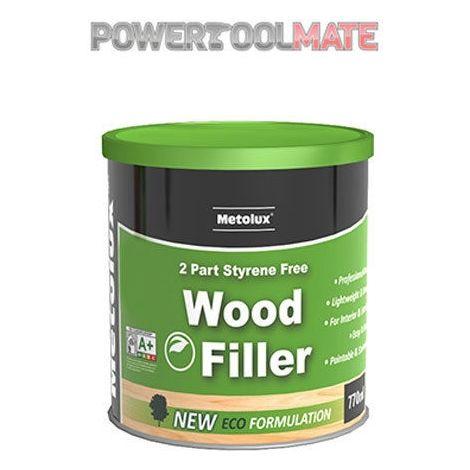 Metolux 1.4kg 2 Part Styrene-Free Professional Wood Filler – White