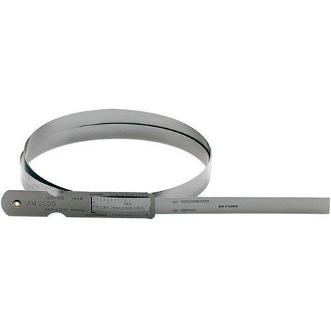 Mètre à ruban d'acier pour circonférence et Ø, Pour circonférence : 60-950 mm, Pour Ø 20-300 mm, Vernier 0,1 mm