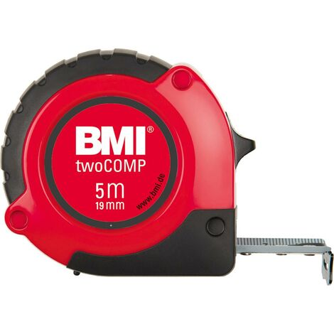 Mètre a ruban de poche, Blanc/noir/rouge, twoCOMP M 8mx25mm BMI