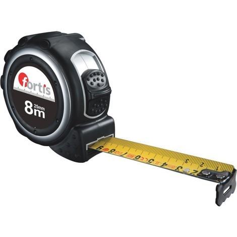 Mètre a ruban plastique 8m x 25mm FORTIS