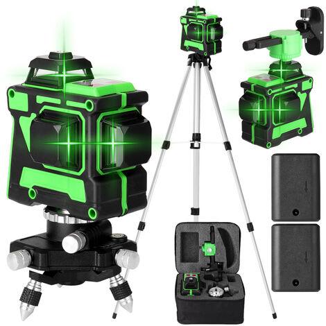 """main image of """"Metre de niveau laser 3D 12 lignes Trepied de metre de niveau de 1,5 m, norme europeenne 220V, livre avec deux batteries"""""""