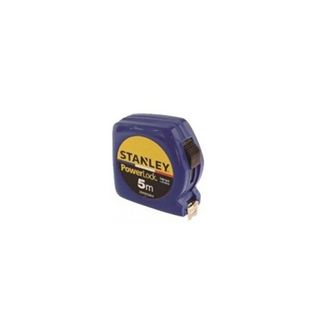 Mètre double marquage STANLEY 5m x 19mm Powerlock Classic ABS - Bleu - STHT81536-0BLEU