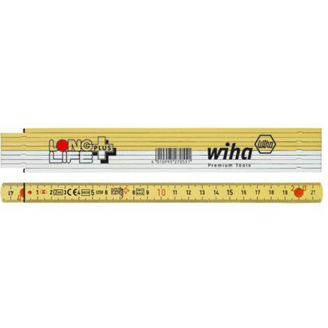 Mètre pliant 2 m Wiha Longlife 27059 plastique 1 pc(s)