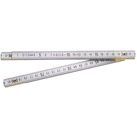 Mètre pliant Duralumin Classe III 1 mètre - 5 branches Facom DELA.625.00